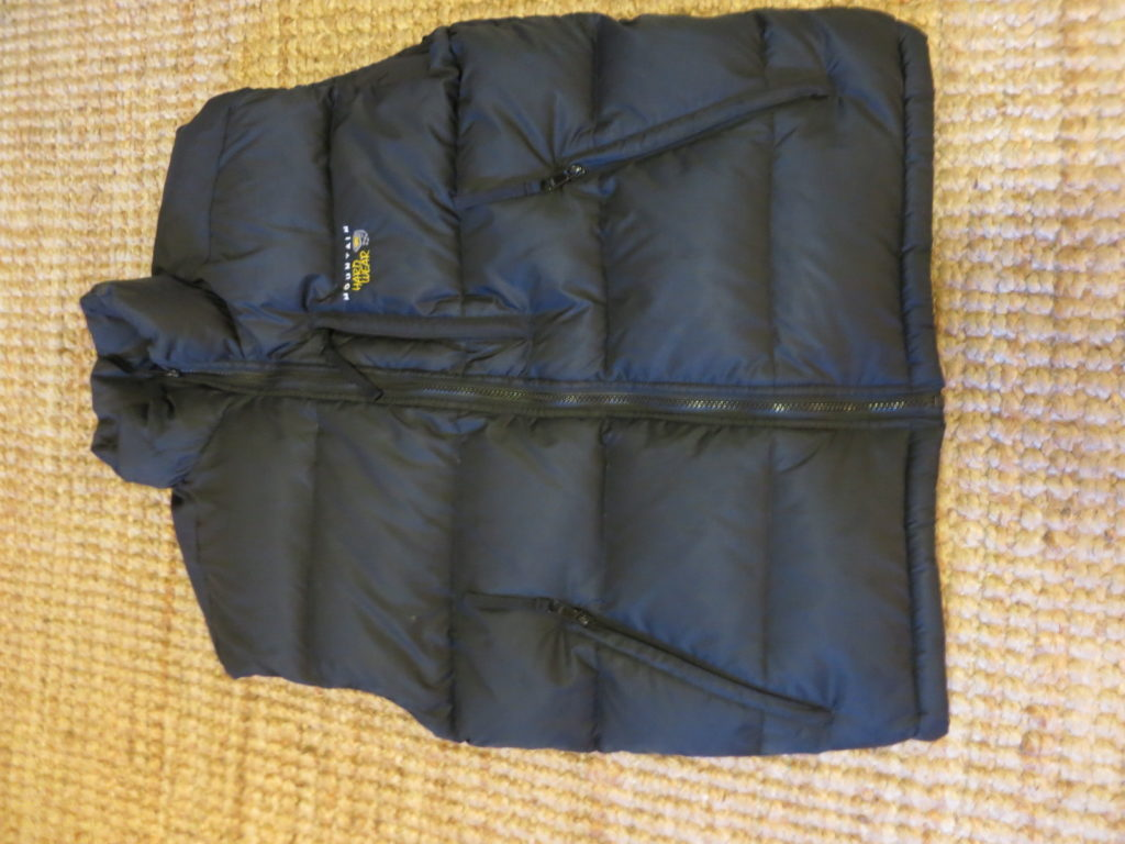 "Mountain Hardware Down Vest- ווסט במילוי פוך. עלות השכרה: 130 ש""ח לשבועיים"